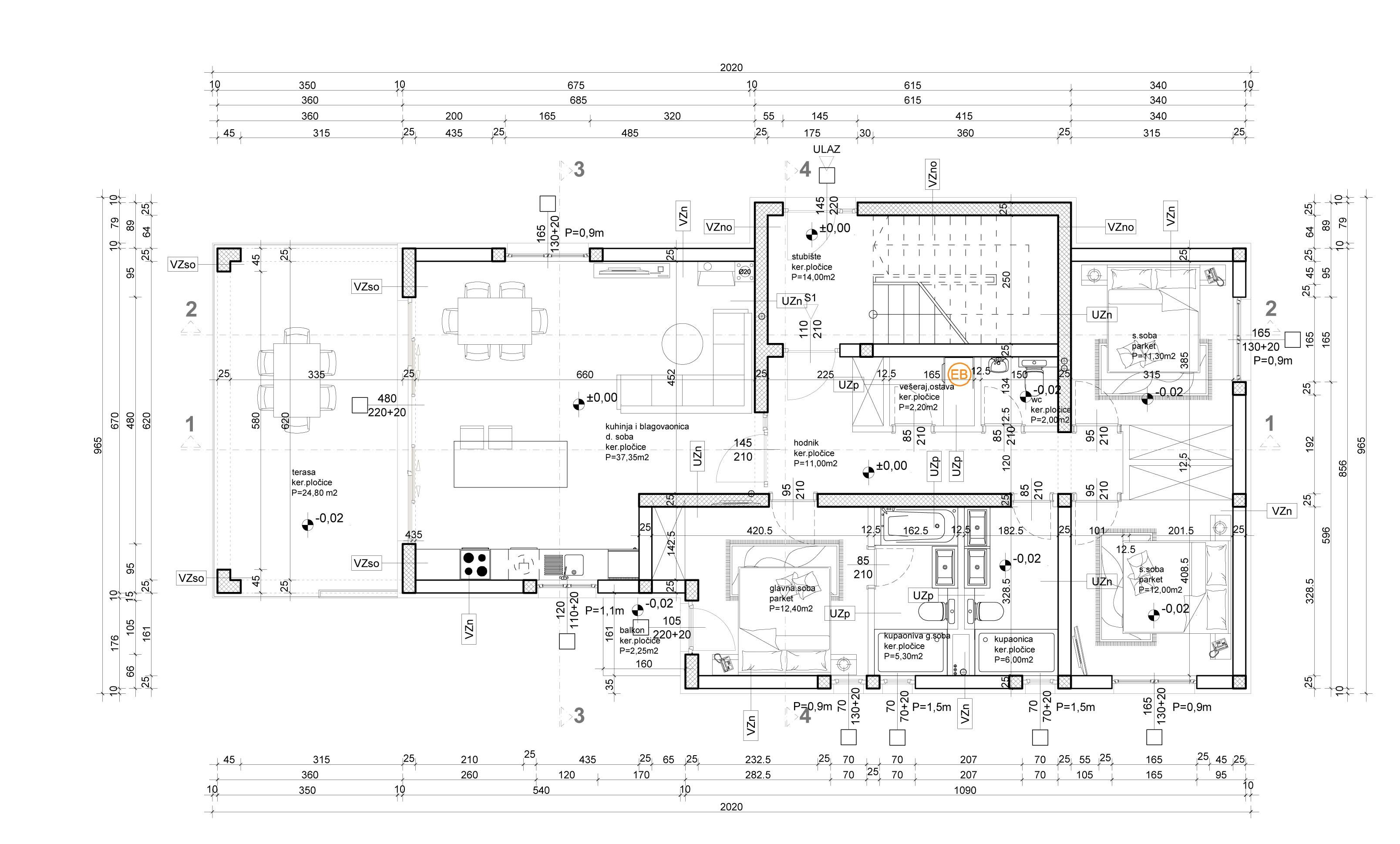 Grundriss Erdgeschoss Wohnung